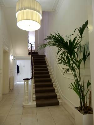 View up the stairs from entrance hall. Picture by Louise Olver, Photographer